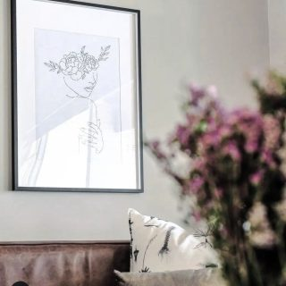 Transformation Monday's. One of our beautiful line drawing framed by @lovilee_za making this space so special  and a home.  Thank you for the beautiful pictures Karen Kelly.